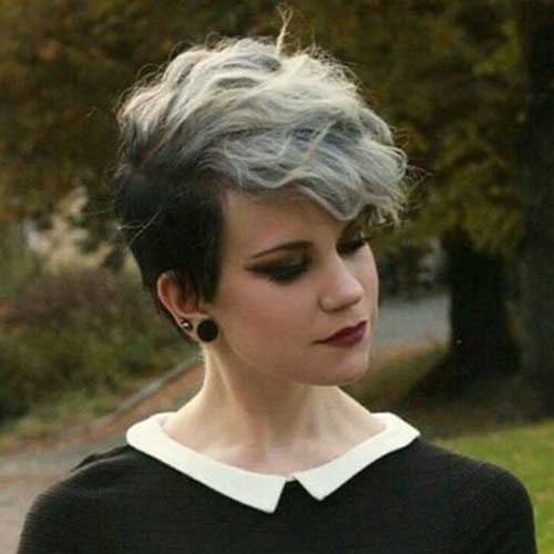 Gray Hair Pixie Cuts