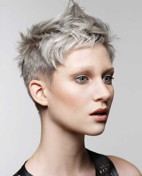 Gray Pixie Haircuts