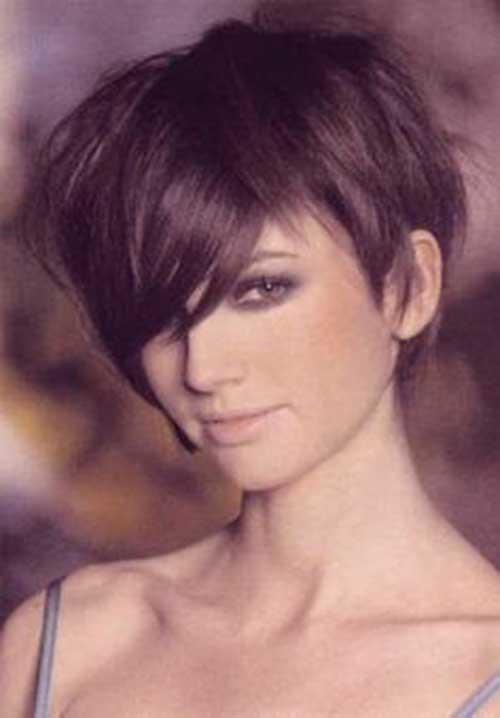 Long Bang Pixie Haircuts