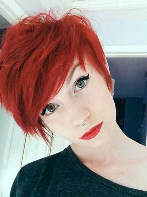 Pixie Cuts for Red Hairs