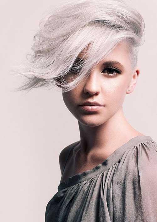 Short Gray Pixie Haircuts