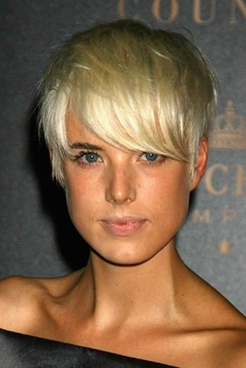 Agyness Deyn Long Pixie Cuts