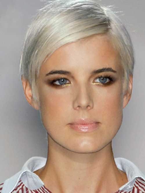 Agyness Deyn Straight Pixie Cuts