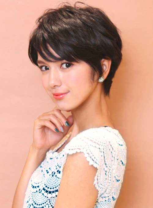 Asian Dark Hair Pixie Cut