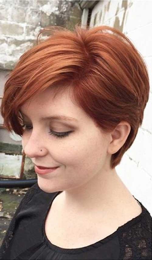 Auburn Pixie Hair Styles