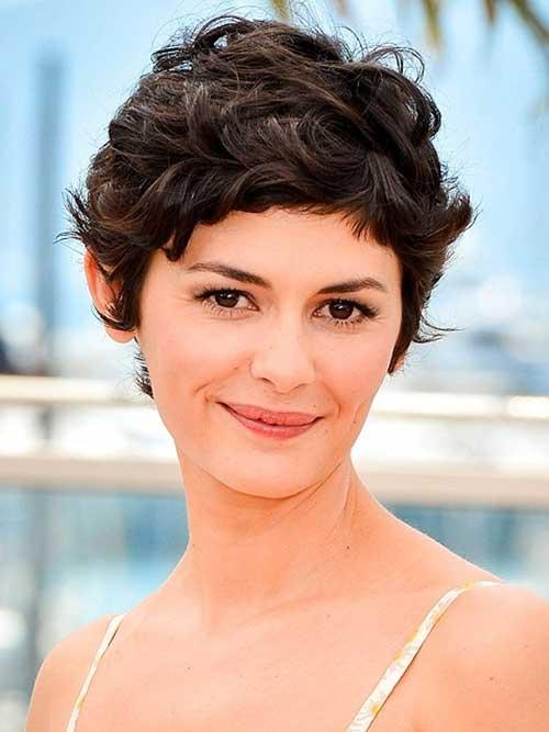 Audrey Tautou Pixie Dark Hair Styles