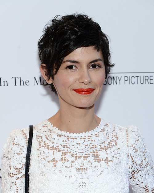 Audrey Tautou Pixie Curly Hair