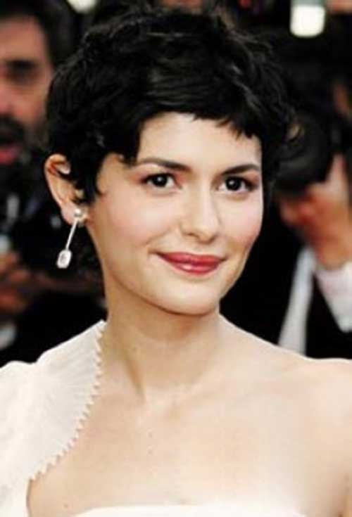 Audrey Tautou Short Cut Pixie Hairstyles