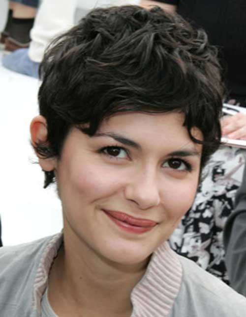 Audrey Tautou Wavy Pixie Hair Cuts