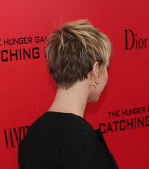 Back of Classical Pixie Cuts Ideas for Women