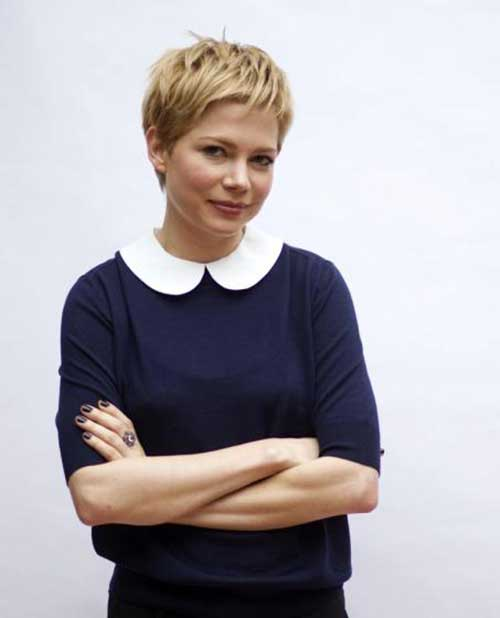 Blonde Actresses Pixie Hair Cuts