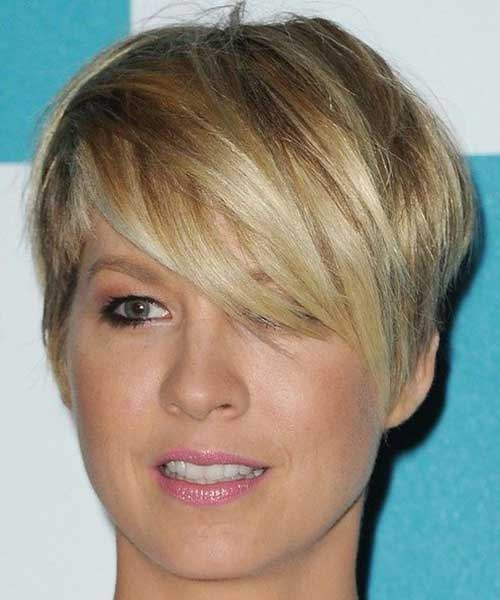 Blonde Hair Long Pixie Cut