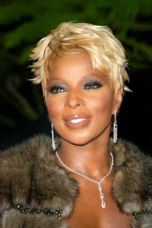 Blonde Pixie Haircut Ideas Black Women