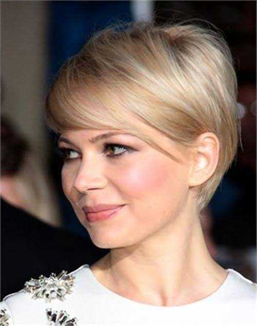 Blonde Straight Pixie Haircuts 2015