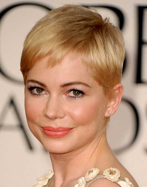 Blonde Straight Pixie Hairstyles Images