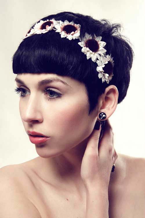 Blunt Pixie Hairstyles for Wedding