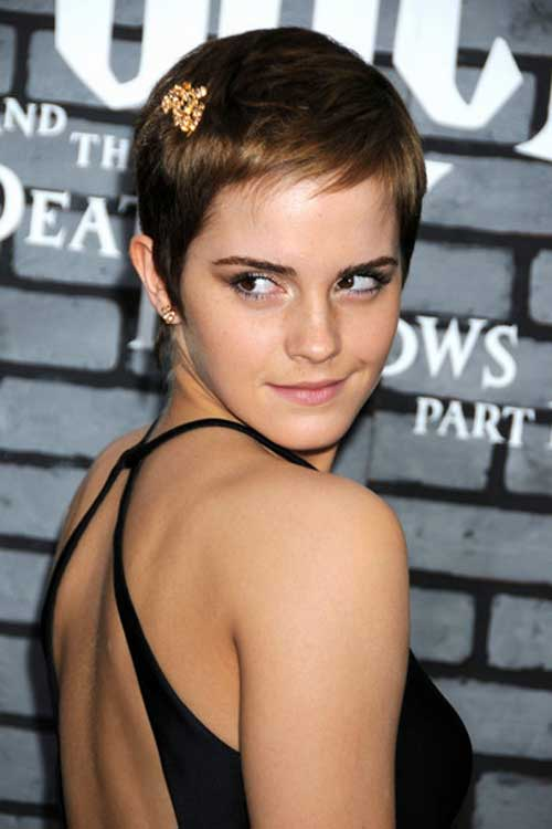 Brown Pixie Cut for Thin Hair