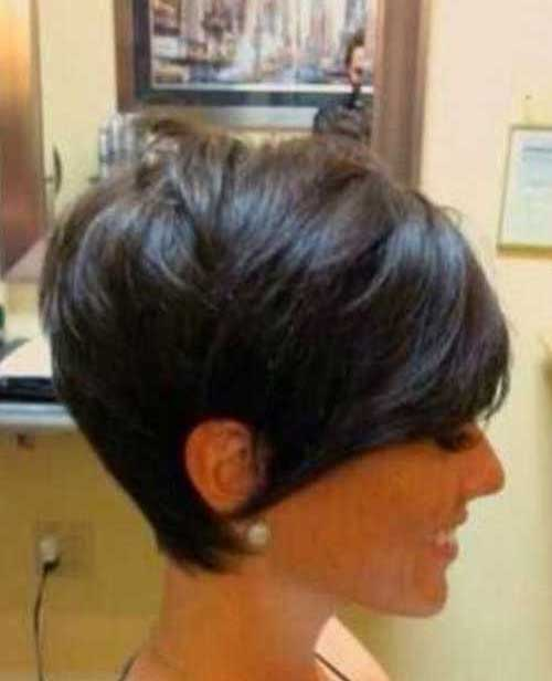 Brunette Long Straight Pixie Hairstyles