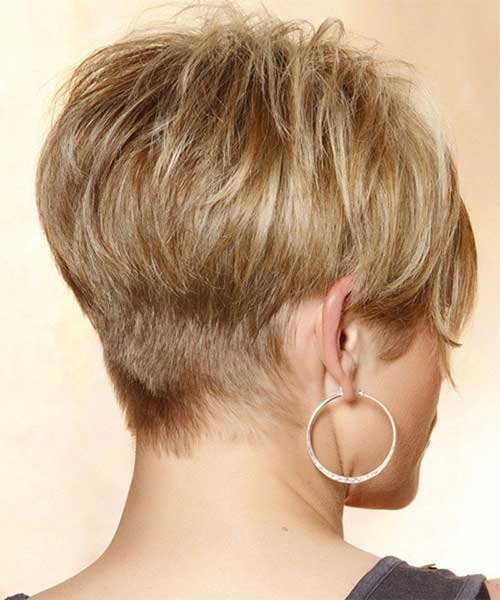 Casual Pixie Haircut Styles Back View