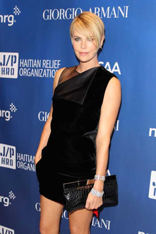 Charlize Theron Classy Pixie Hairstyle