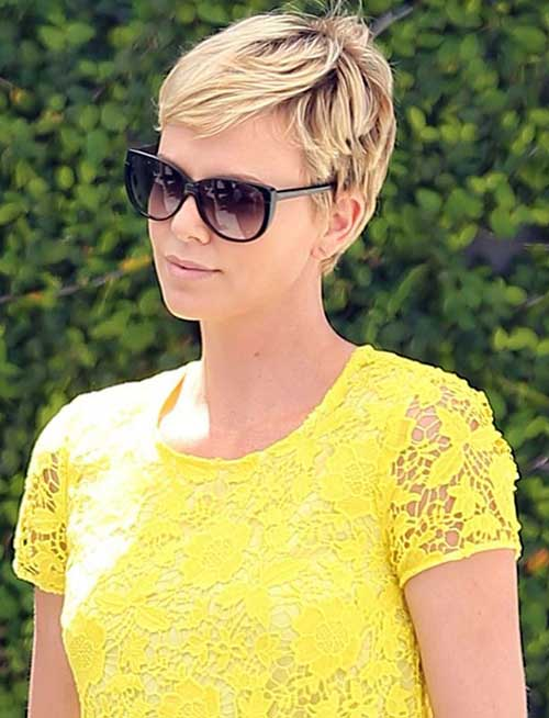 Charlize Theron Pixie Blonde Hair