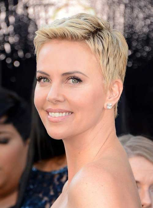Charlize Theron Pixie Hairstyle Ideas