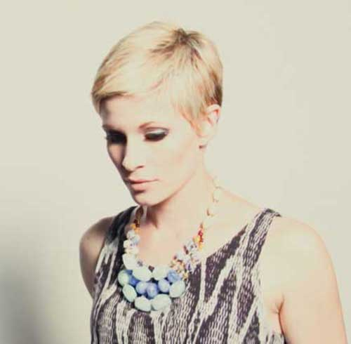 Classic Pixie Cut Blonde Hair