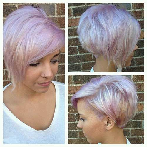 Blonde Colored Pixie Haircuts