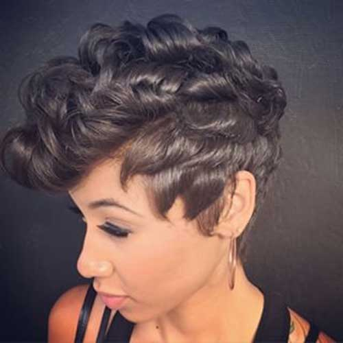 Curly Mohawk Pixie Cuts