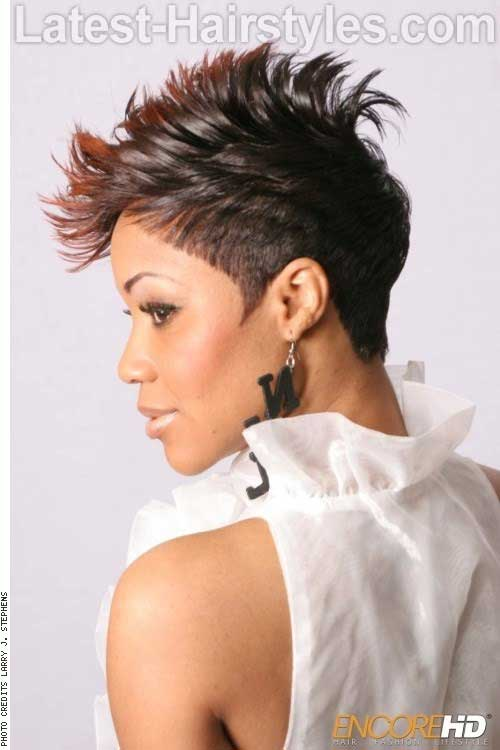 Cute Mohawk Pixie Cuts Back View