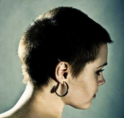 Dark Pixie Hair Cut Side View Look 2015
