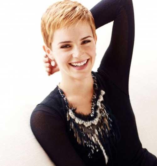 Emma Watson Blonde Pixie Cuts Style