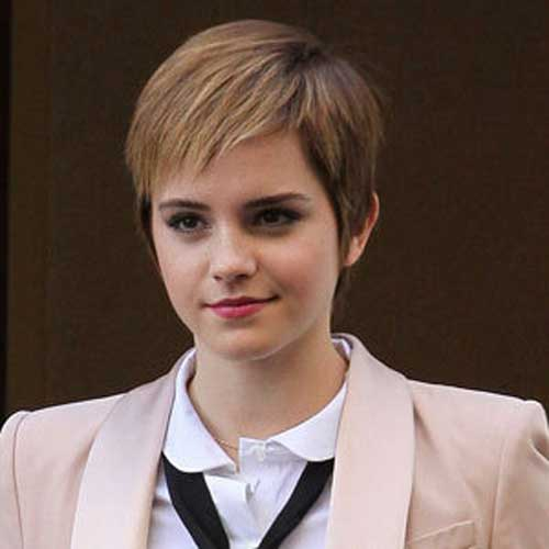 Emma Watson Growing Pixie Hair