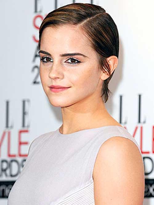 Emma Watson Straight Pixie Hair