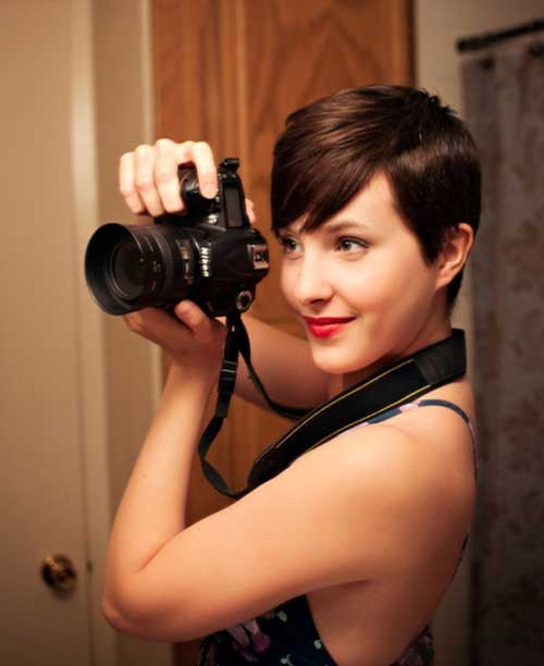 Feminine Brown Pixie Cuts Ideas