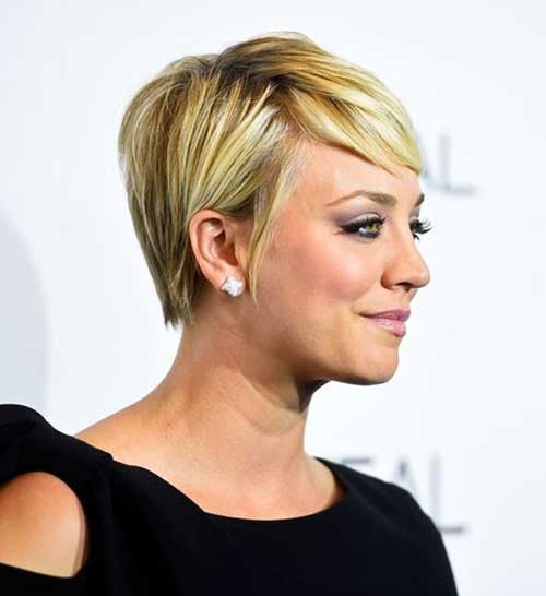 Fine Blonde Pixie Hair Cuts