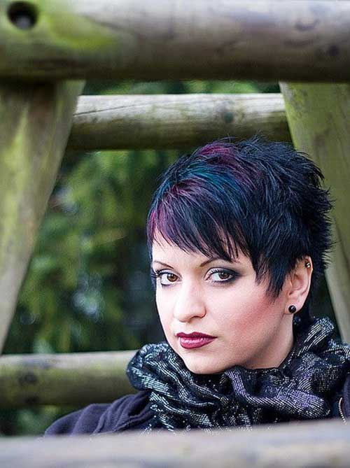 Funky Dark Pixie Haircuts