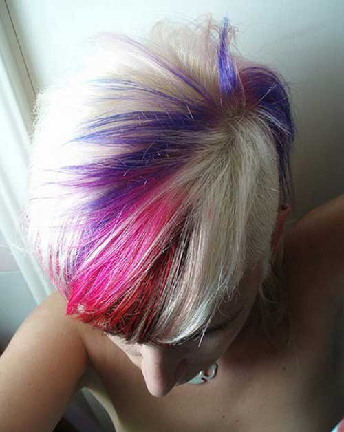 Funky Pixie Hgihlighted Hairstyles