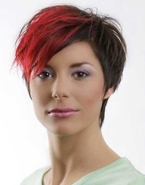Funky Pixie Red Hairstyles