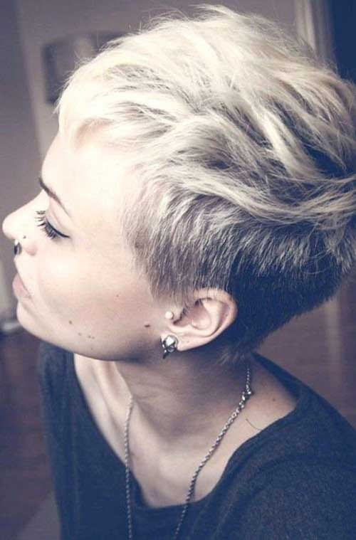 Funky Short Blonde Pixie Haircuts