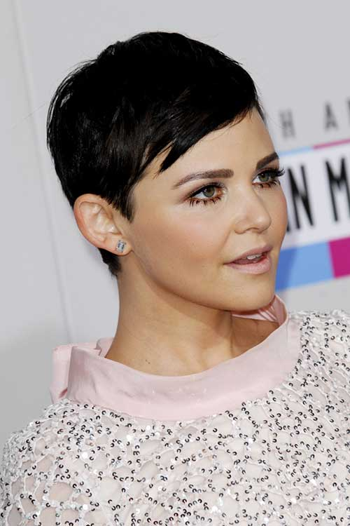 Ginnifer Goodwin Fine Pixie Cuts