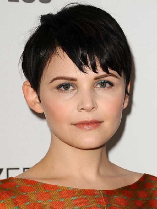 Ginnifer Goodwin Layered Dark Pixie Hair Cuts