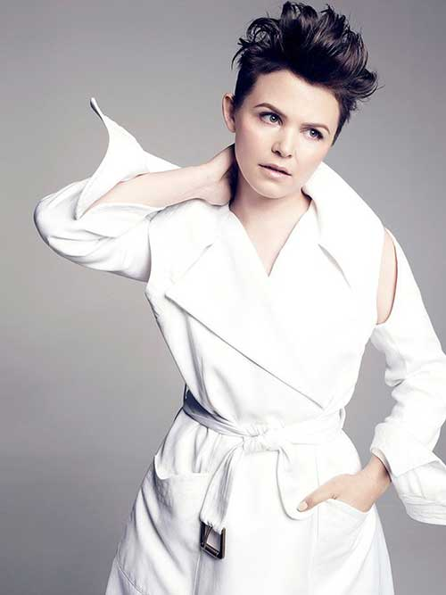 Ginnifer Goodwin Messy Hairstyles Pixie Hair Cuts