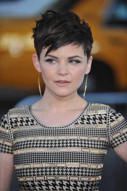 Ginnifer Goodwin Straight Hair Spiky Pixie Cuts