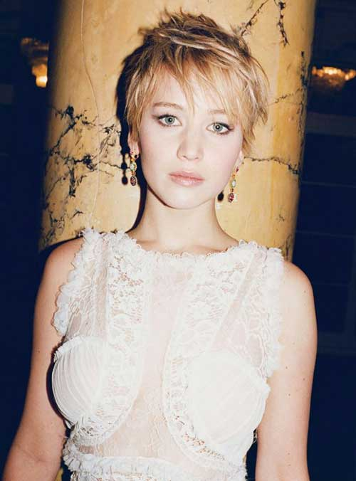 Jennifer Lawrence Beautiful Pixie Cut