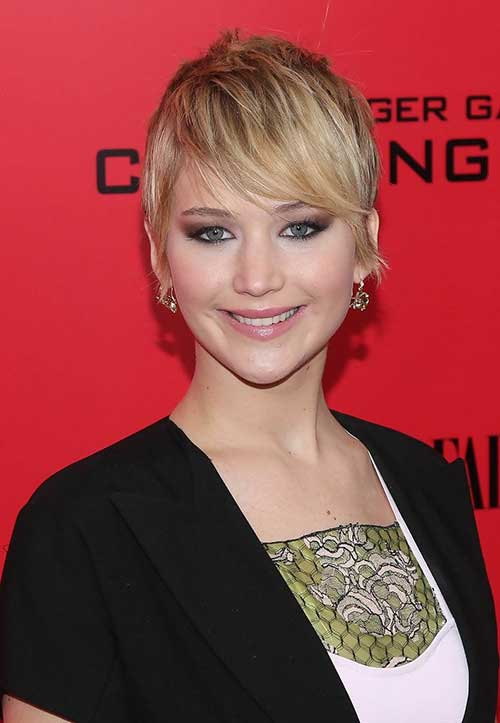 Jennifer Lawrence Best Pixie Cut Styles 2014
