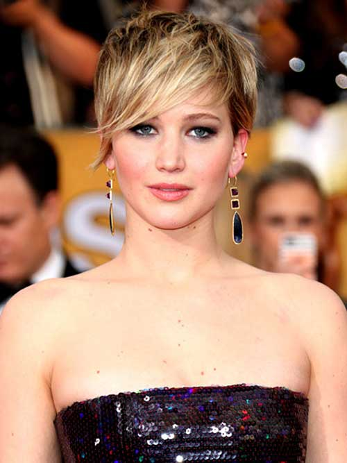 Jennifer Lawrence Chic Pixie Cut 2014