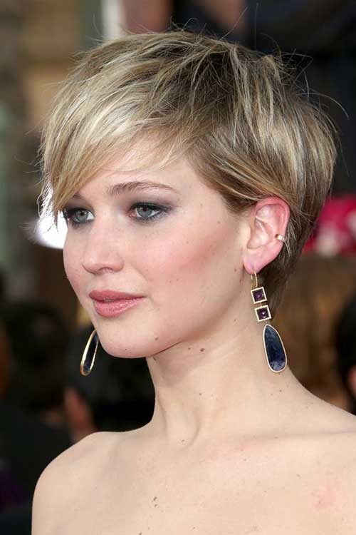 Jennifer Lawrence Cute Pixie Cut 2014