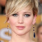 Jennifer Lawrence Blonde Pixie Cut 2014