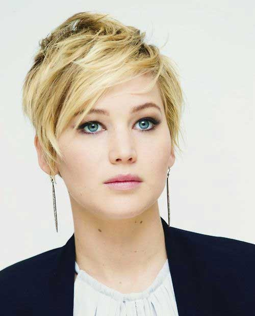 Jennifer Lawrence Stylish Pixie Cut Ideas